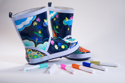 Pintor designs on wellington boots
