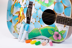 A guitar customised using Pintor