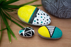Pebbles decorated using Pintor