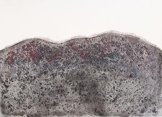 9_파도가 걸어간 길_acrylic, graphite