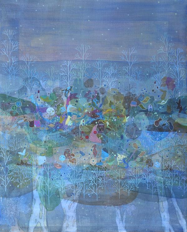 새벽4시, 100.0x80.3cm, acrylic on canvas, 2