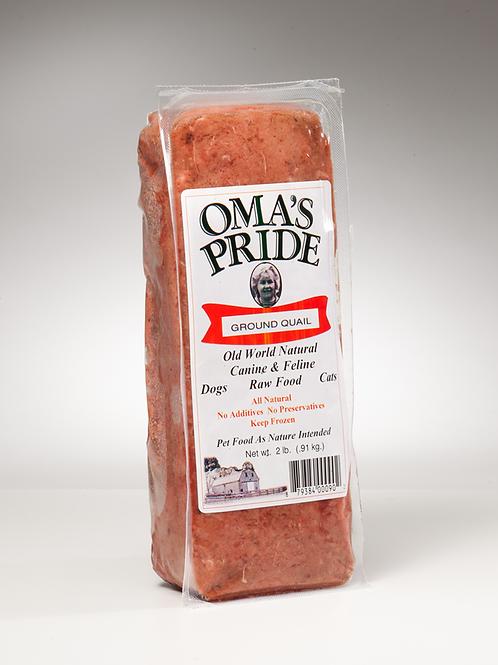 Oma's Pride Ground Quail 2 lb