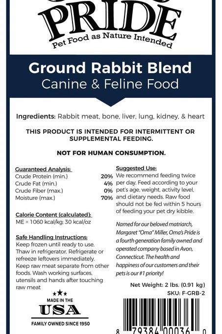 Oma's Pride Ground Rabbit BLEND