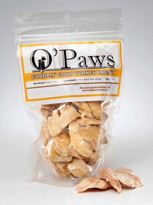 O'Paws Freeze Dried Turkey Breast Chunks 4 oz