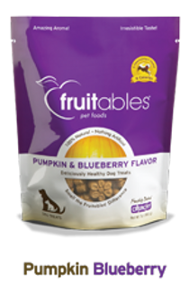 Fruitables Pumpkin & Blueberry Crunchy Dog Treats