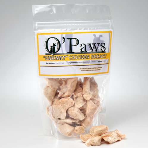 O'Paws Freeze Dried Chicken Breast Chunks 4 oz.