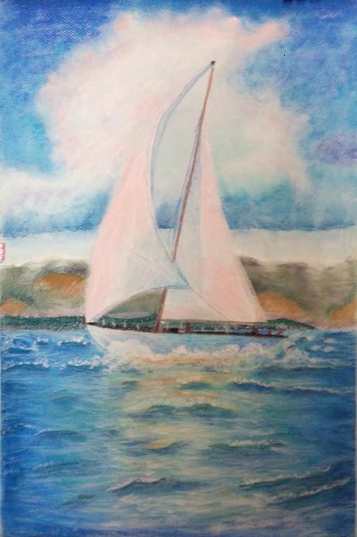 Barco en pastel