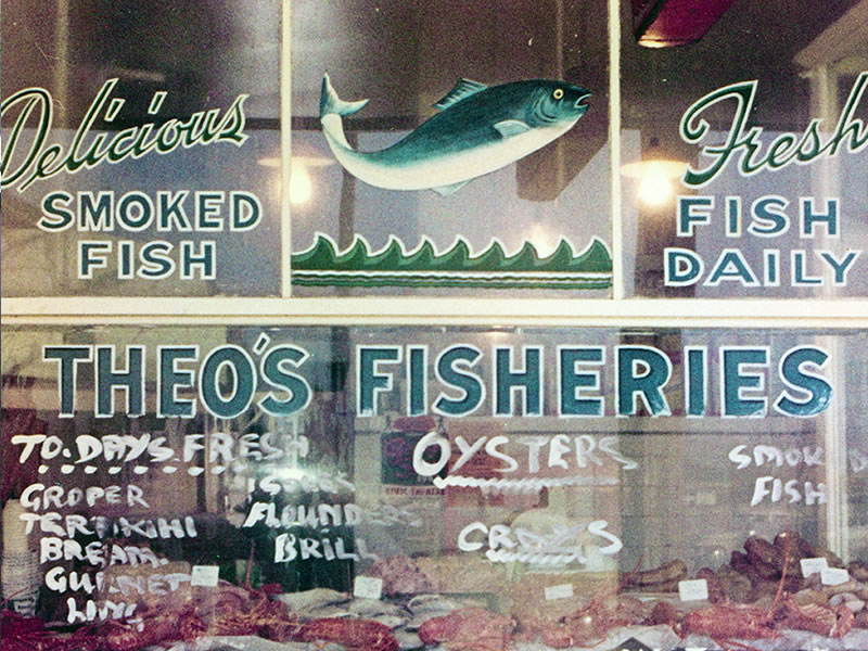 Theo's Fisheries - Original Theo's Shop Window