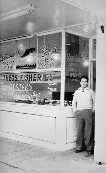 Theo's Fisheries - Original Shop Window