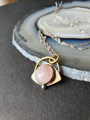 """""""Woke"""" Eye of Protection with Rose Quartz Necklace"""