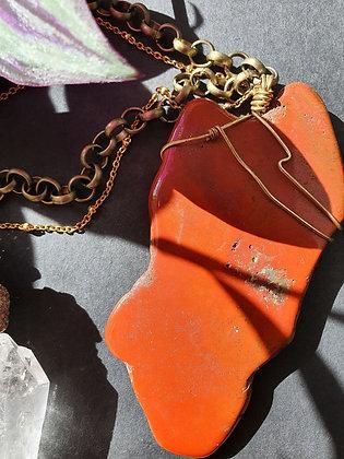 NZ Red Jasper Statement Necklace