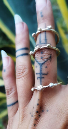 Divine Brass Stacker Ring