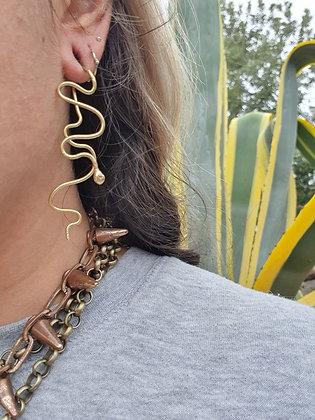 Brass Serpent Stretched Lobe Jewel - 1.5mm