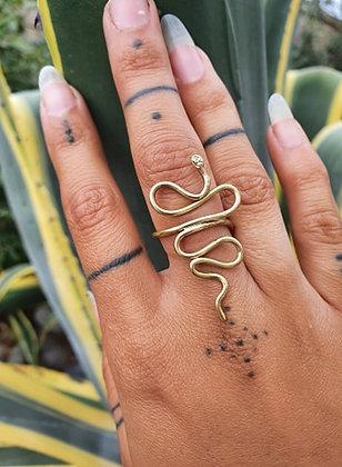 Brass Serpent Ring