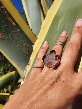 Copper Rose Quartz Ring