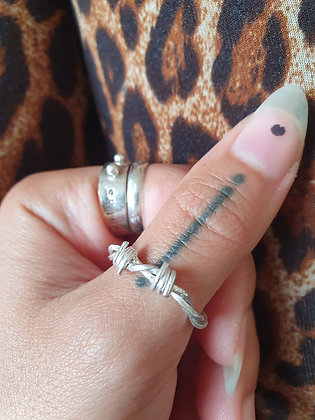 Sterling Silver Barb Wire Ring