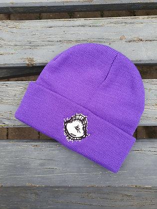 """Woke"" Purple Beanie"