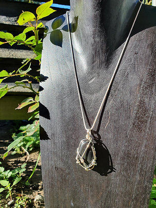 Shungite Sterling Silver Chain Necklace