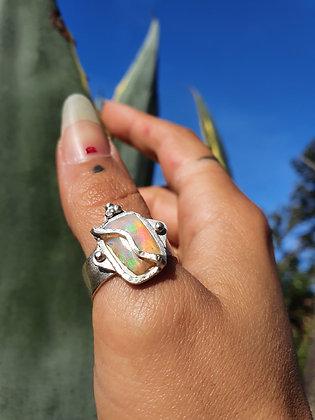 Sterling Silver X Ethiopian Opal Ring