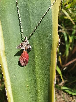 Sterling Silver & Copper Shroom Necklace #3