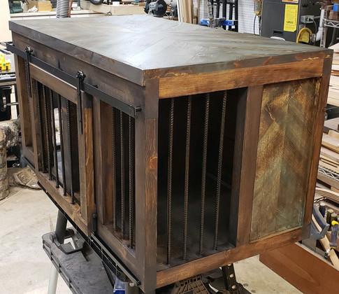 Herringbone Accented Kennel - Customer Dog Crate