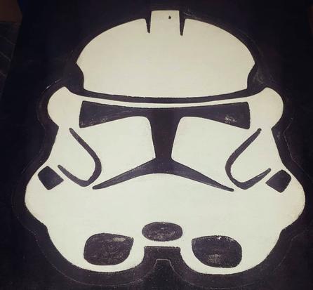 Storm Trooper Wood Plaque