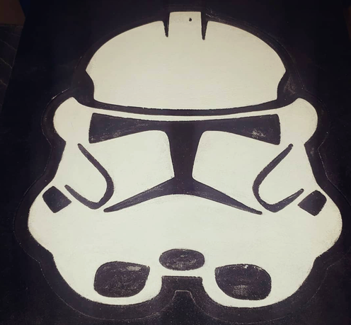 Storm Trooper Wood Plaque