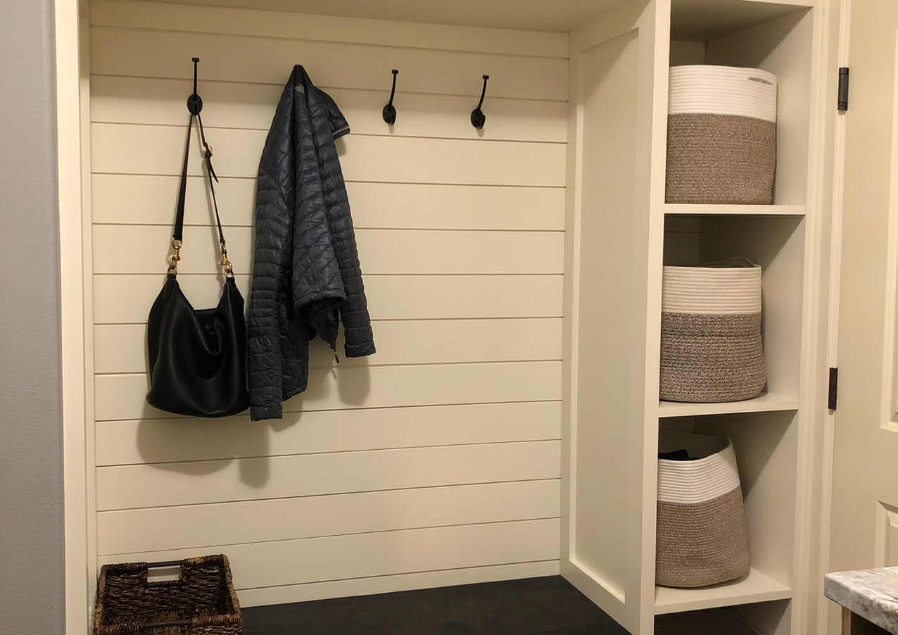 Mud Room with Shiplap Wall