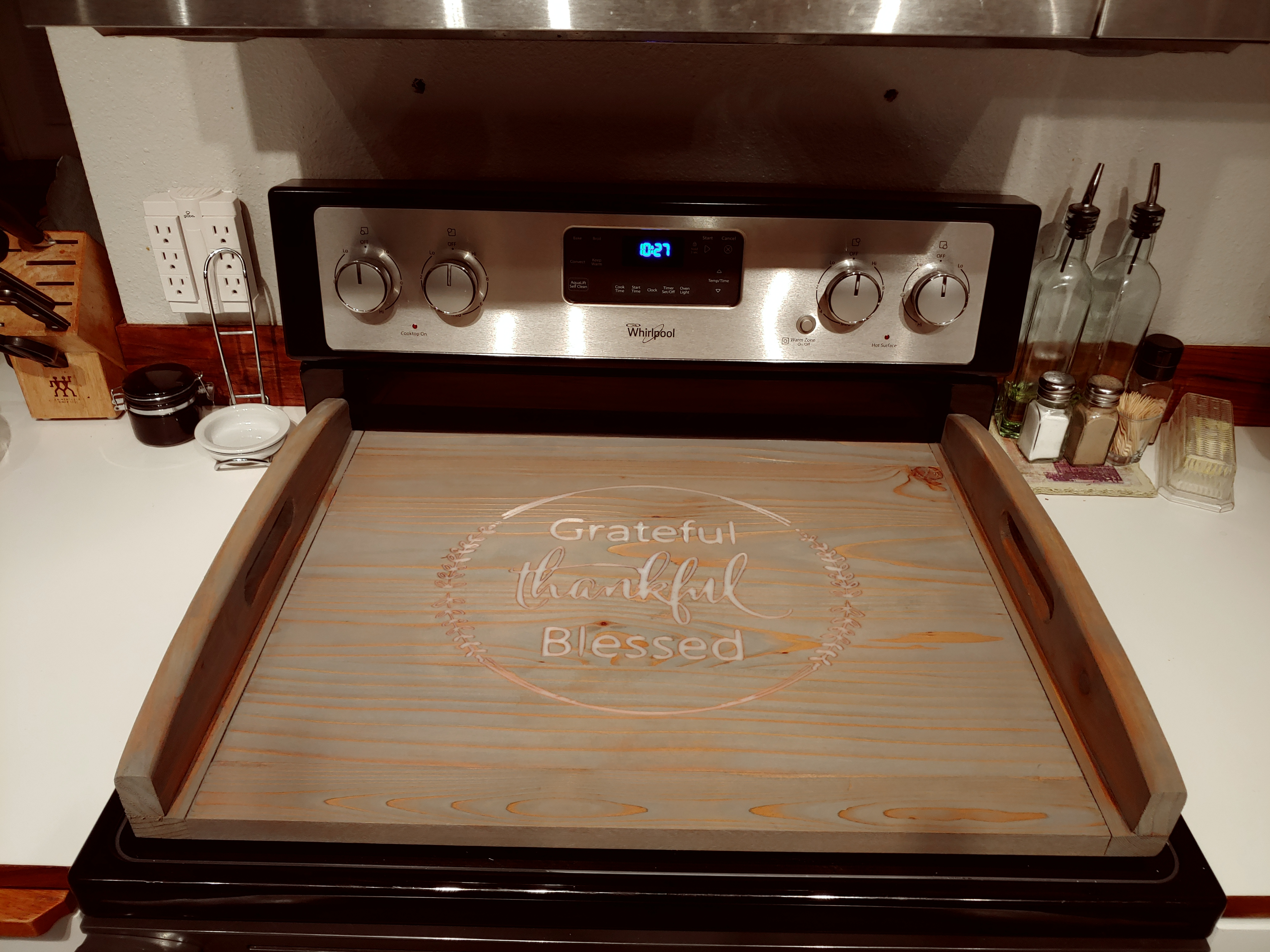 Engraved Stove Topper