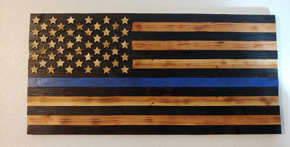 American Flag - Law Enforcement