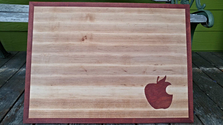 Maple & Blood Wood Inlay Cutting Board