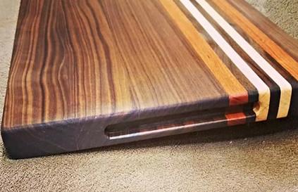 Walnut, White Oak, Mahogany Cutting Board
