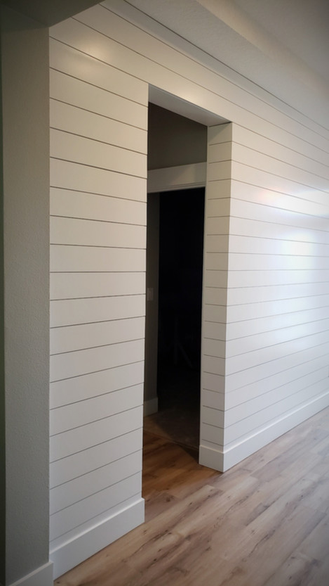 Shiplap Wall with Corner Wrap