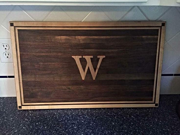Walnut & White Oak with Inlay Cutting Boards