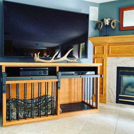 Dog Kennel and Entertainment Center