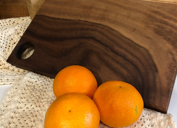 Walnut Cutting Board with Oranges