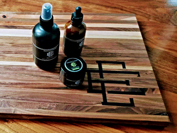 Walnut Cutting Board with Epoxy Logo