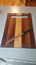 Walnut, Mahogany, & Holly Cutting Board