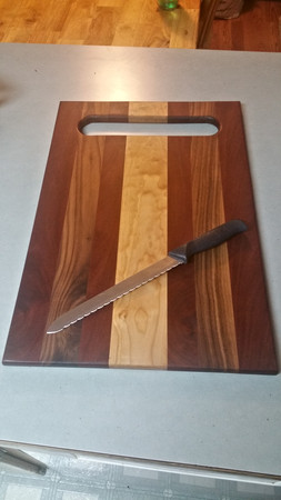 Walnut, Mahogany, & Holly Cutting Board