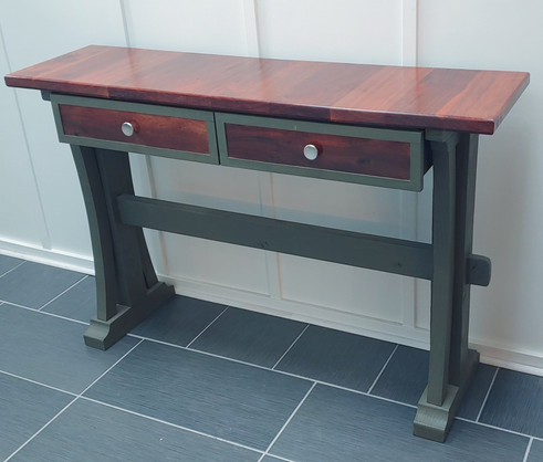 Mahogany Site Table with Painted legs