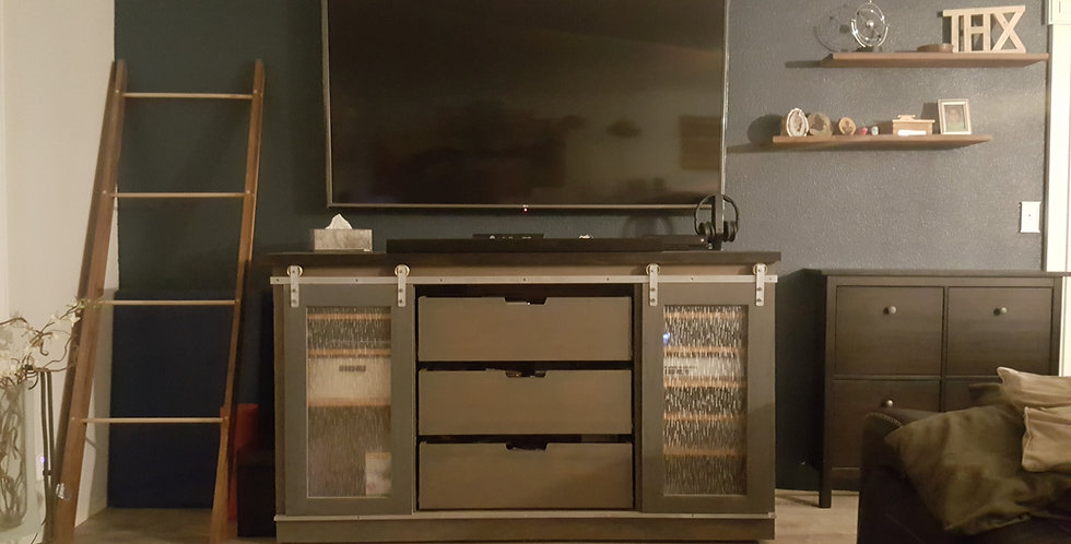 Custom Wood Entertainment Center