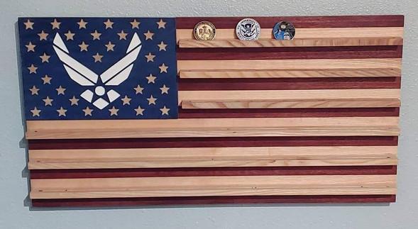 Airforce Flag Coin Holder
