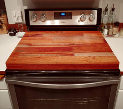 Finger Jointed Mahogany Stove Topper