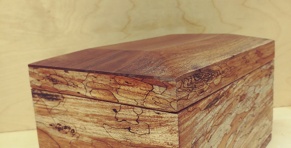 Large Spalted Maple Keepsake Box