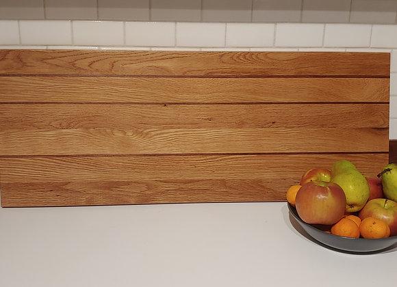 White Oak Cutting Board w/ Walnut Strips - 31 Inches