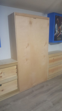 Murphy Bed with Lower Cabinets