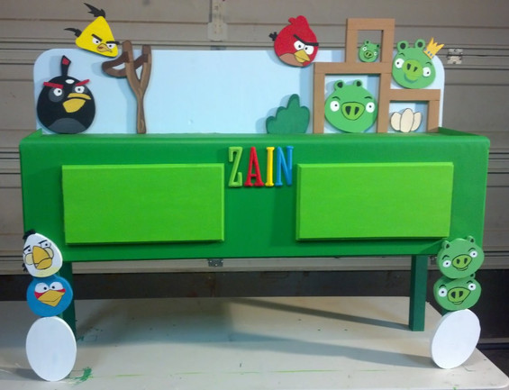 Angry Birds Table with Storage
