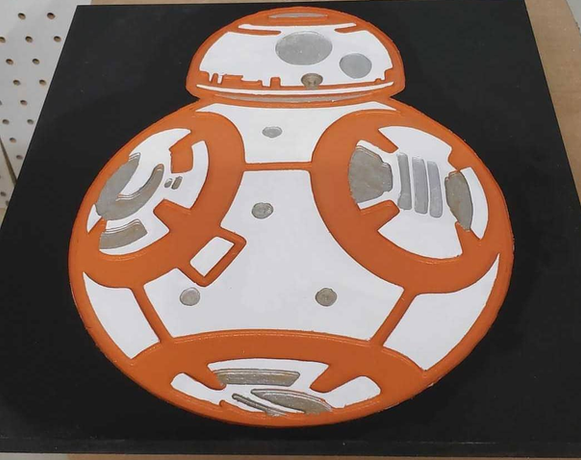 BB8 Wood Plaque