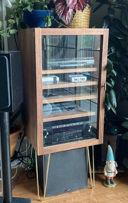 MidCentury Modern Walnut Entertainment Center