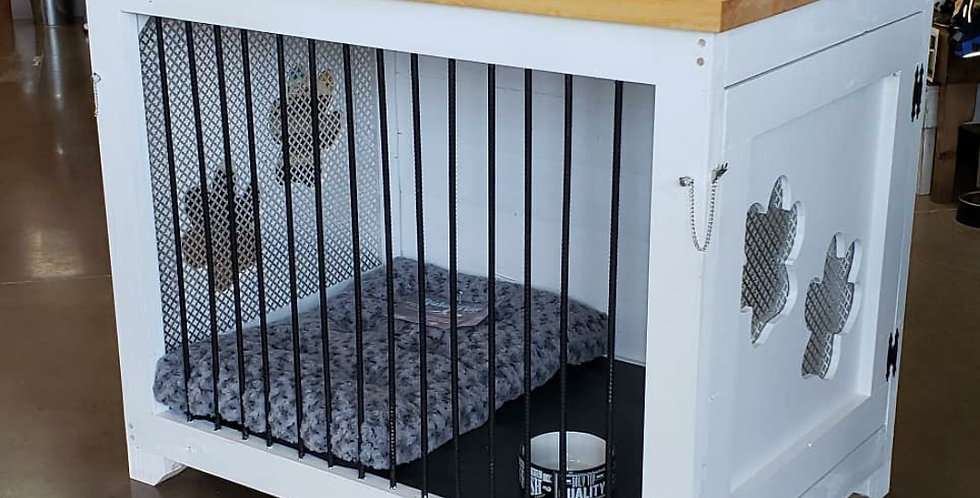 Large Dog Kennel - 2 Doors w/cutouts